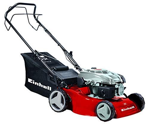 Einhell GC-PM 46/3 S - Cortacésped de gasolina con tracción (2000 Vatios, altura de corte 7 niveles | 30-70 mm , ancho de corte 46 cm, hasta 1400m² de jardín, 55L de capacidad de bolsa) (ref.3400727)