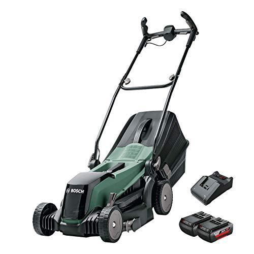 Bosch Cortacésped con Batería EasyRotak 36-550, 36 Volt, 2 Baterías 2,0 Ah, Ancho de corte: 37 cm, Céspedes de hasta 550 m², en Caja