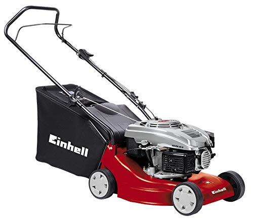 Einhell GH-PM 40 P - Cortacésped de gasolina (1600 Vatios, altura de corte 3 niveles | 32-62 mm , ancho de corte 40 cm, hasta 800m² de jardín, 45L de capacidad de bolsa) (ref.3401013)