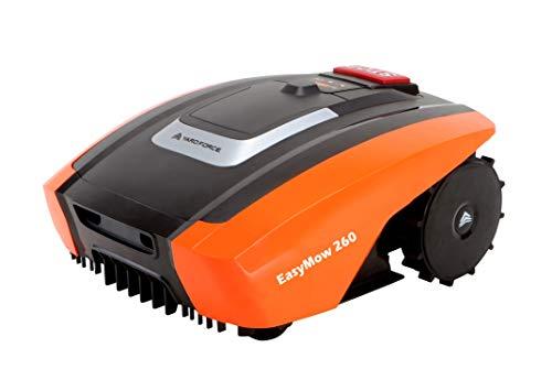 Yard Force EasyMow260 - Robot cortacésped para hasta 260 m², manejo y fácil de Usar, inclinación del 30 %, batería de Iones de Litio de 2,0 Ah, 20 V, Color Negro y Naranja
