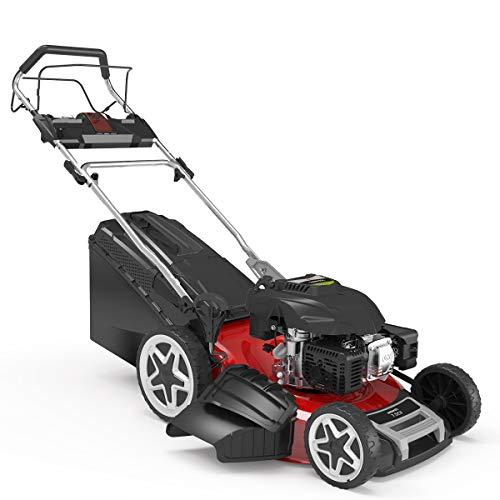 Greencut GLM880XE Cortacesped Autopropulsado, Rojo,224cc 7.5cv 530mm, arranque eléctrico