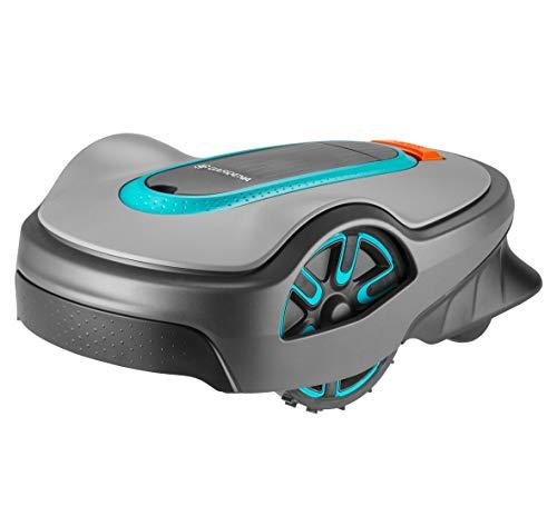 GARDENA SILENO life programable con App Bluetooth, corta superficies de hasta 1000m², robot cortacésped silencioso que adapta los tiempos de corte al crecimiento de la hierba (15102-34)