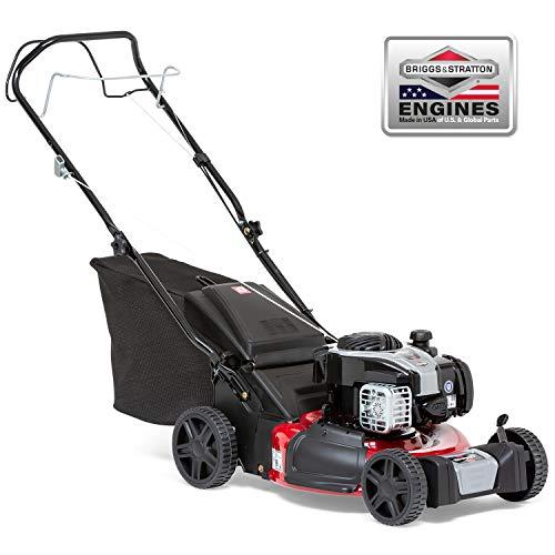 Sprint 2691604 Cortacésped de Gasolina autopropulsado de Empuje de 18'/46 cm con Motor Briggs & Stratton 500E Series, Rojo Oscuro